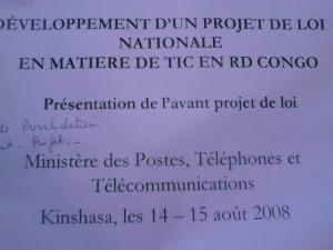 Présentation d'un projet de loi sur les TIC datant de 2008